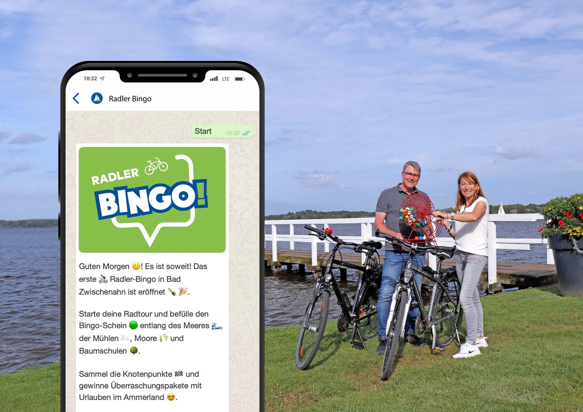 Radler Bingo in Bad Zwischenahn. Das Bingo Spiel für das Ammerland zum Radfahren